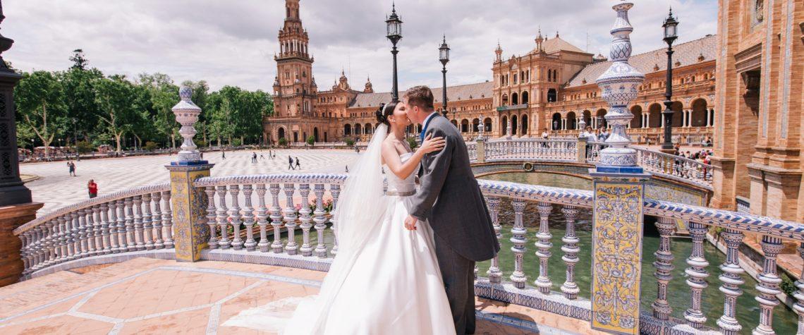 Свадьба на Площади Испании в Севилье