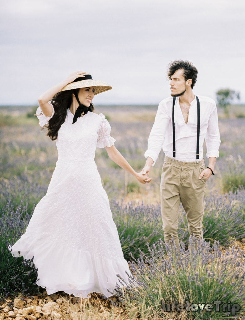 Свадьба на лавандовом поле в Испании