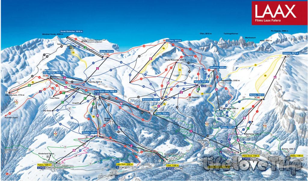 Курорт Лаакс славится своими горнолыжными спусками