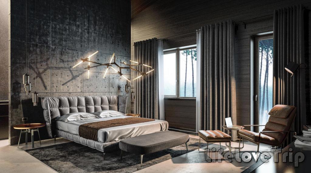 спальня в современном стиле для активных и молодых