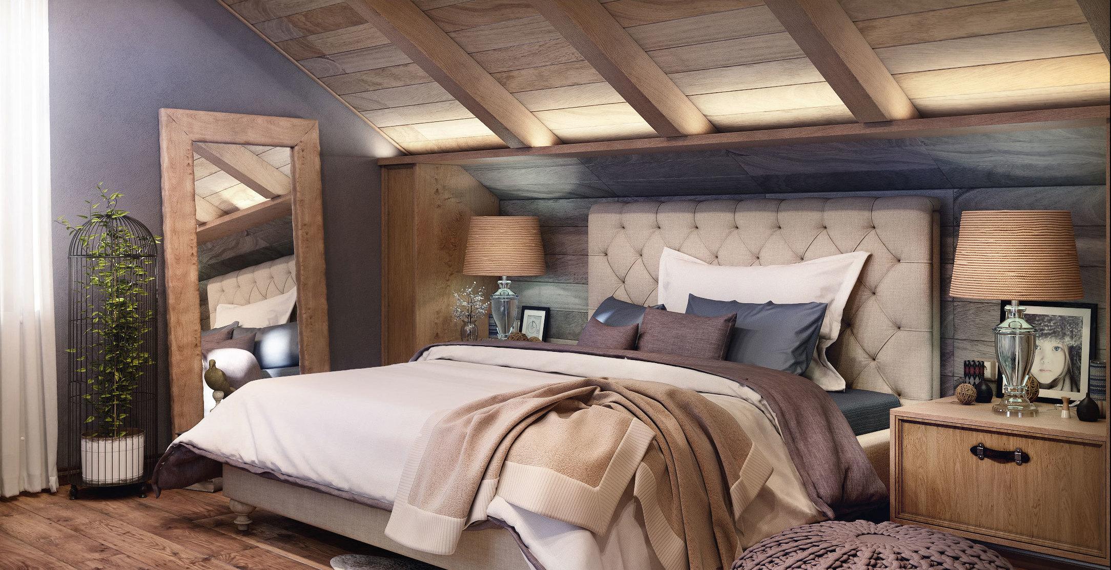 роскошный дизайн для вашей спальни в загородном доме