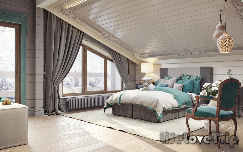 отличный вариант - спальня в мансарде