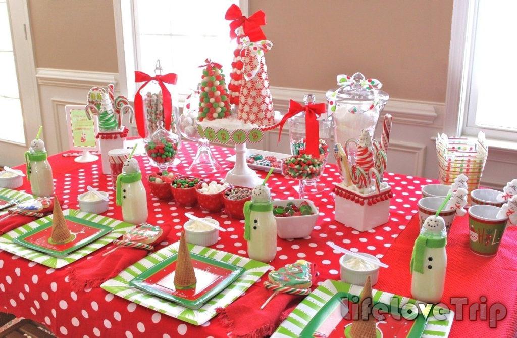 стол со сладостями украсит детский день рождения