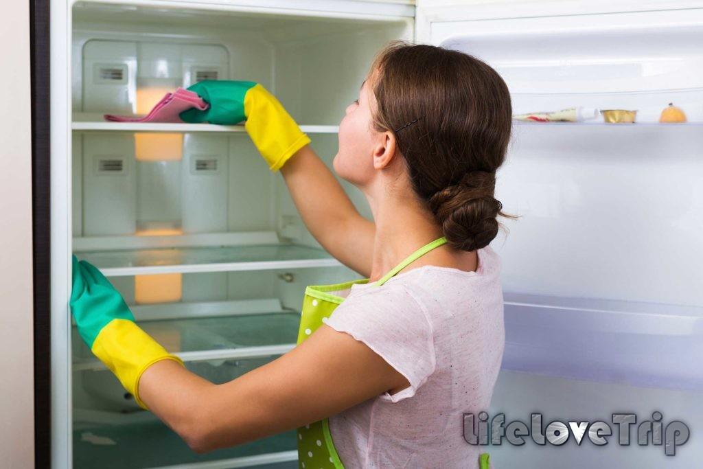 поддерживайте чистоту в холодильнике