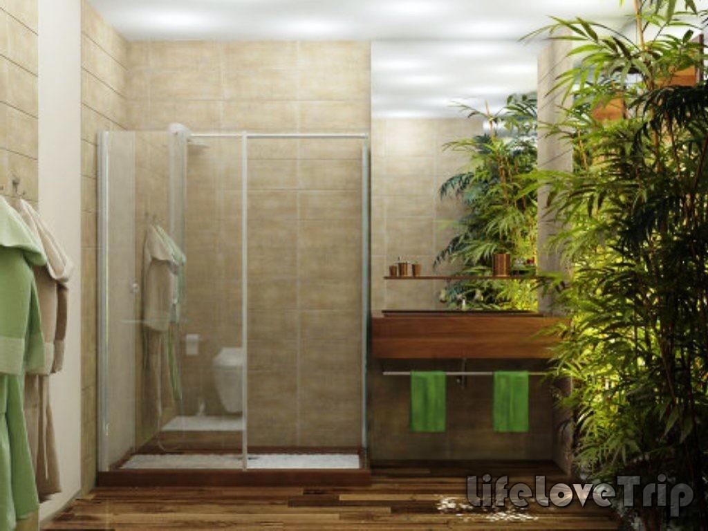 эко-стиль для ванной комнаты