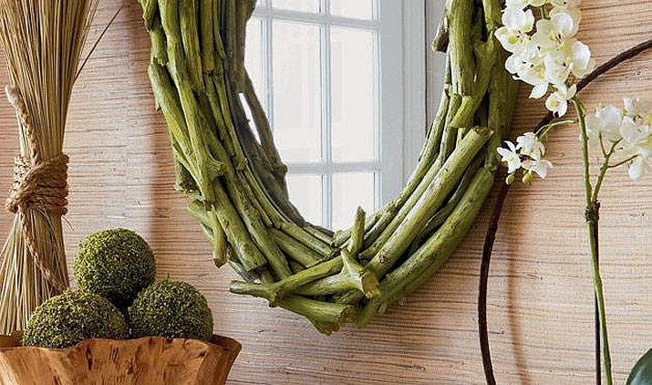 роскошное зеркало в эко-стиле для гостиной