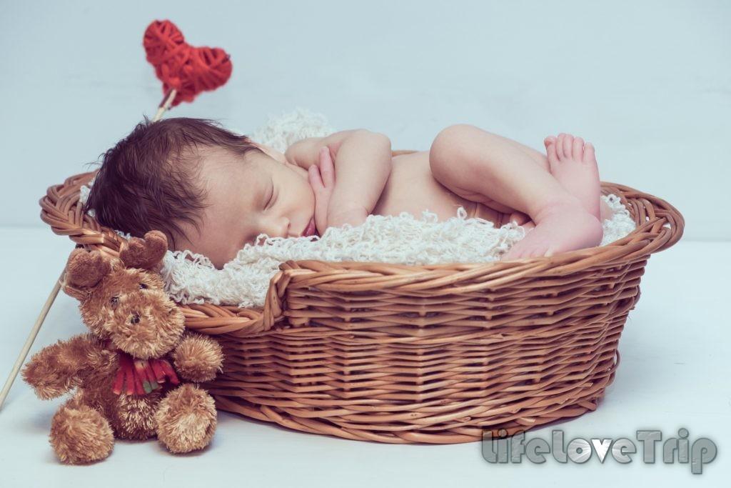 стилизованные фото младенца очень нежные