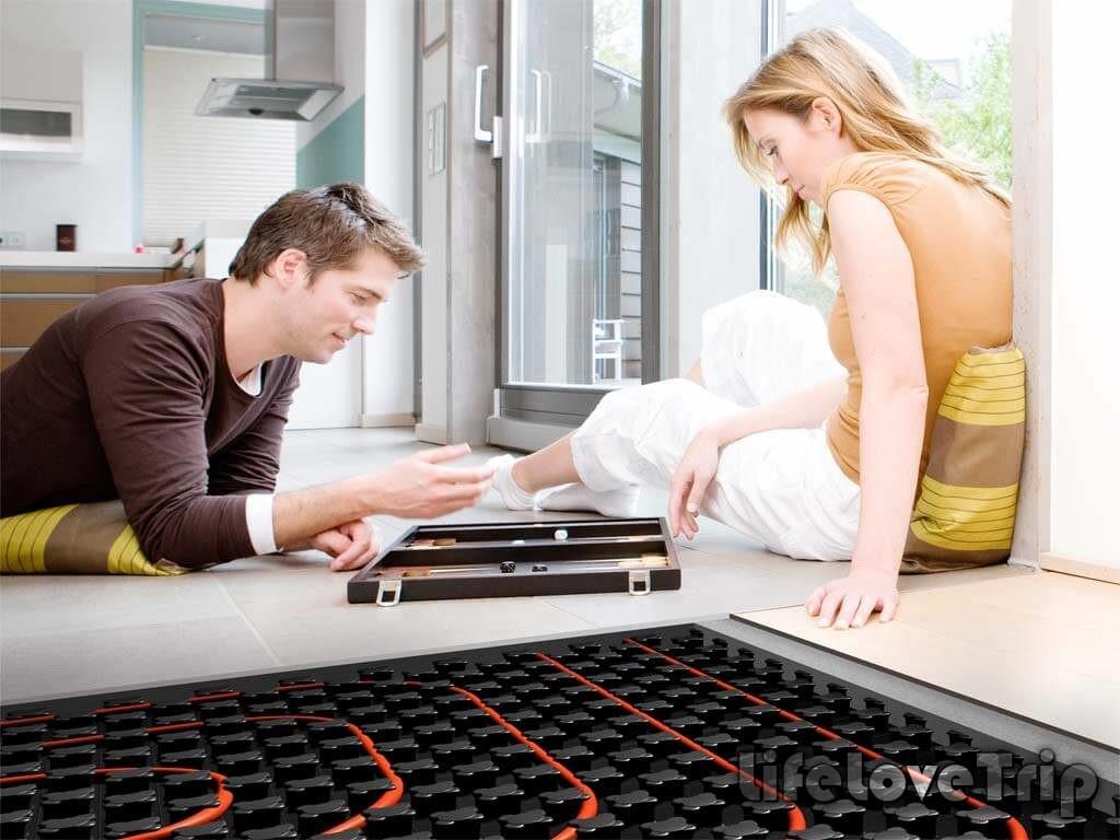 теплый пол создаст уют в вашем доме