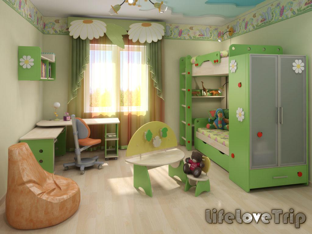 детская спальня в едином стиле - настоящее украшение дома
