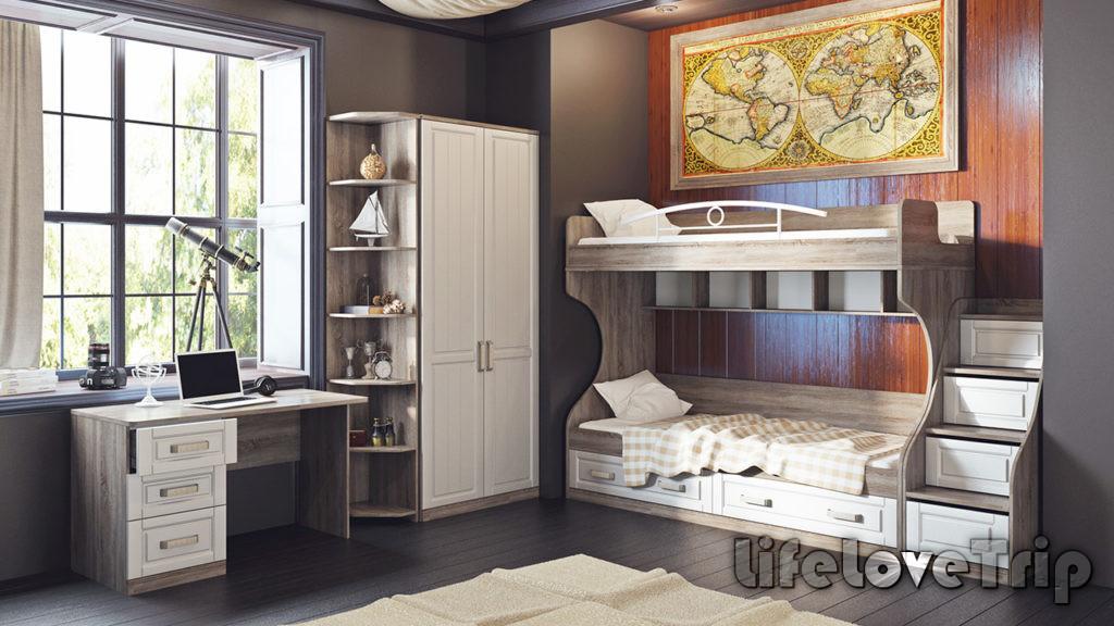 двухэтажная кровать - отличное решение для маленькой детской