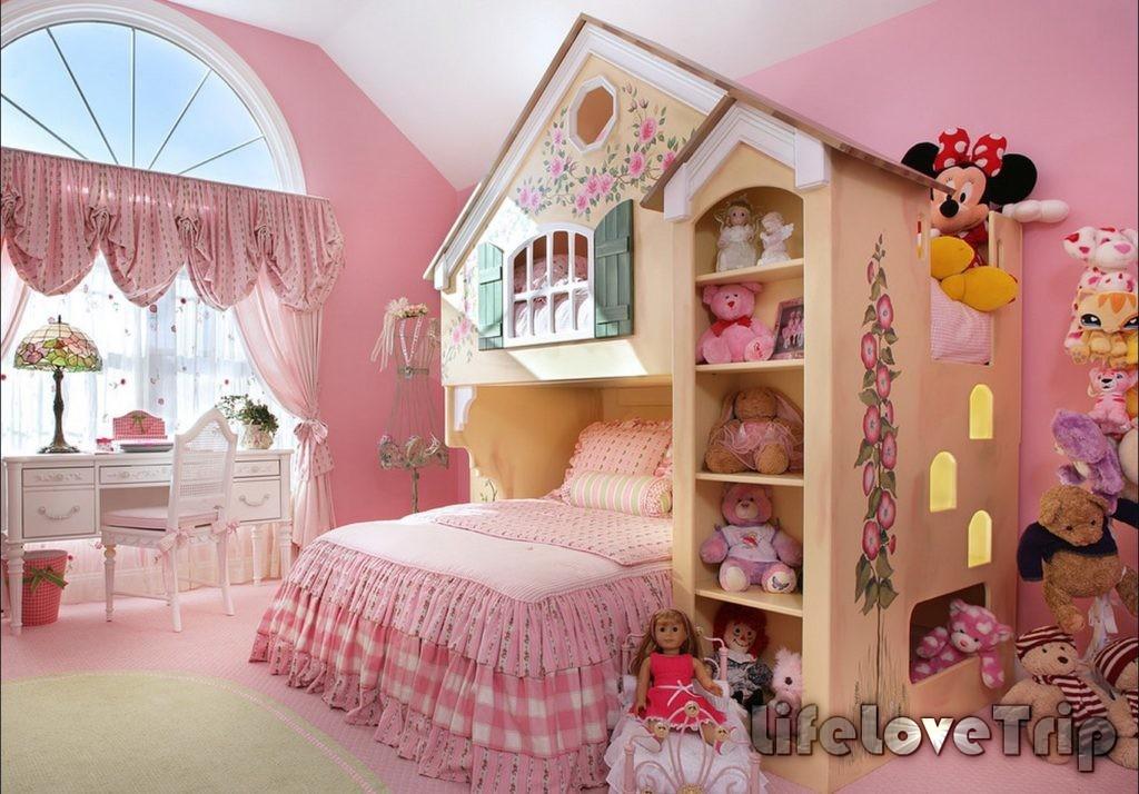 спальня для девочки - настоящее произведение искусства