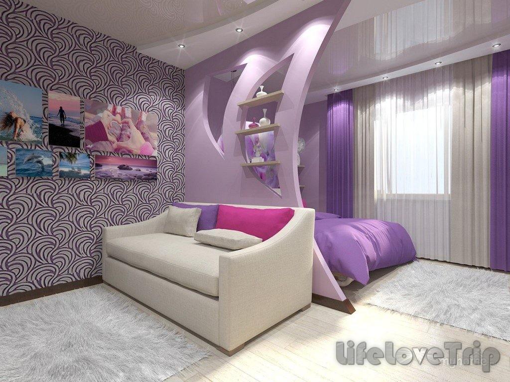 Совмещение спальни с гостиной помощей создать новое помещение.