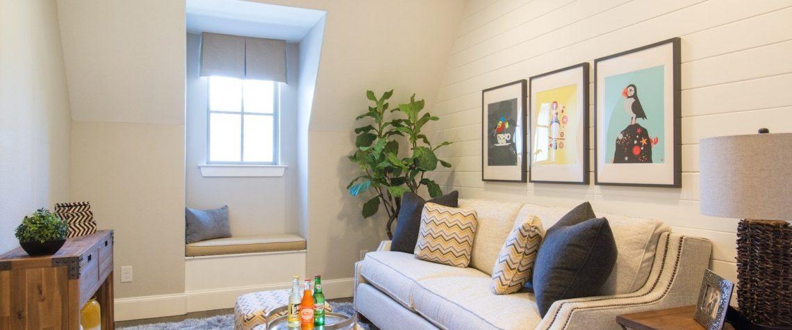Даже в маленькой гостиной можно создать уютный дизайн.
