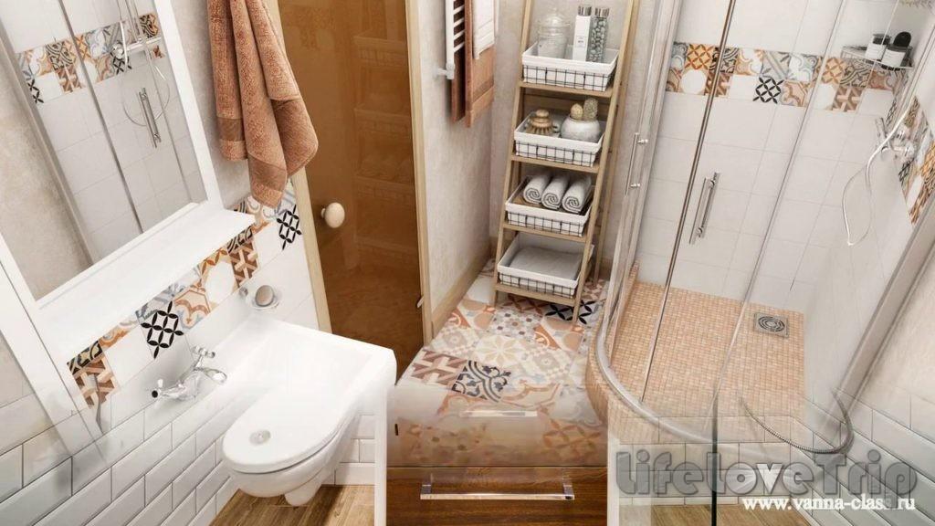 Не загромождайте ванную комнату лишней мебелью.