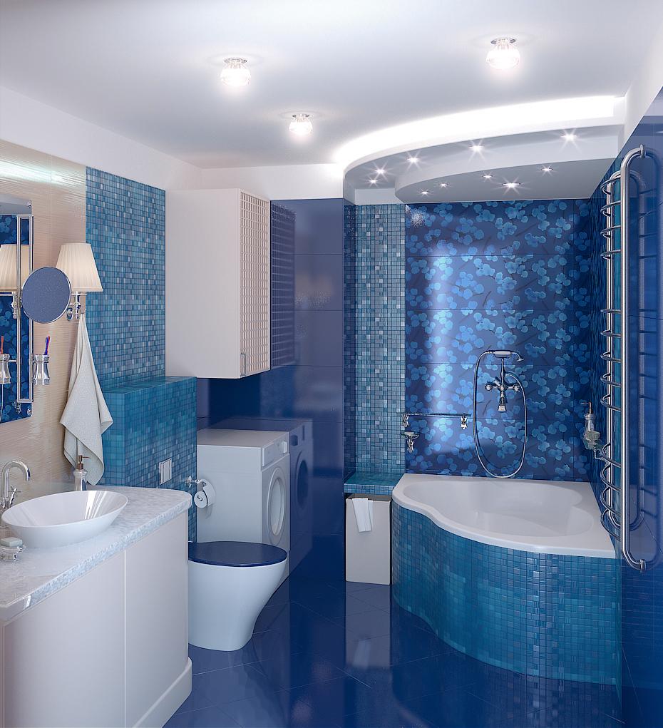 Современные строительные материалы оставляют простор для дизайна ванной комнаты.