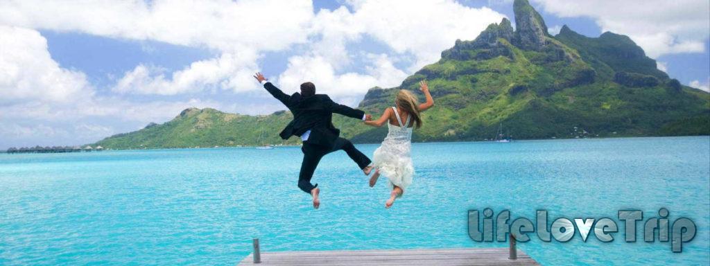 Оригинальное свадебное путешествие запомнится на всю жизнь.