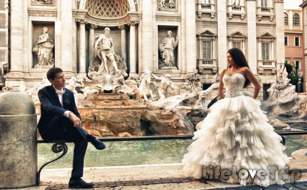 Свадебное путешествие в Риме - романтика и современность.