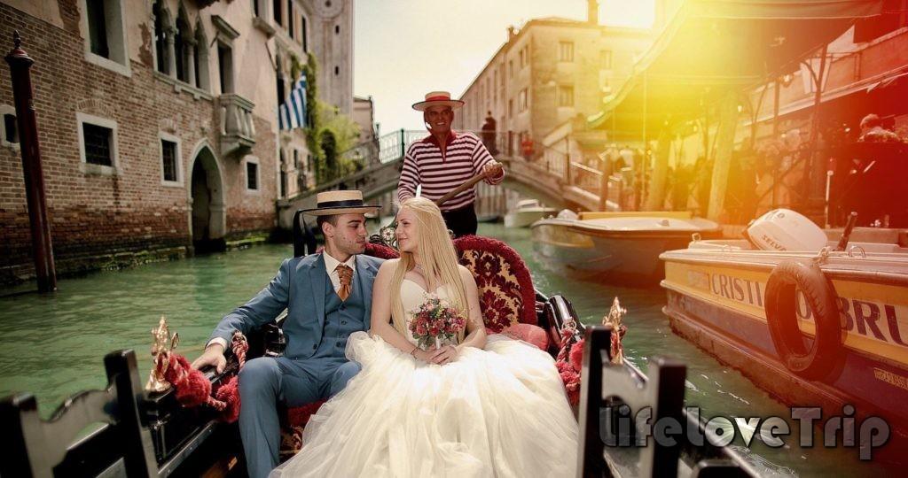 Романтичный медовый месяц идеально провести в Венеции.