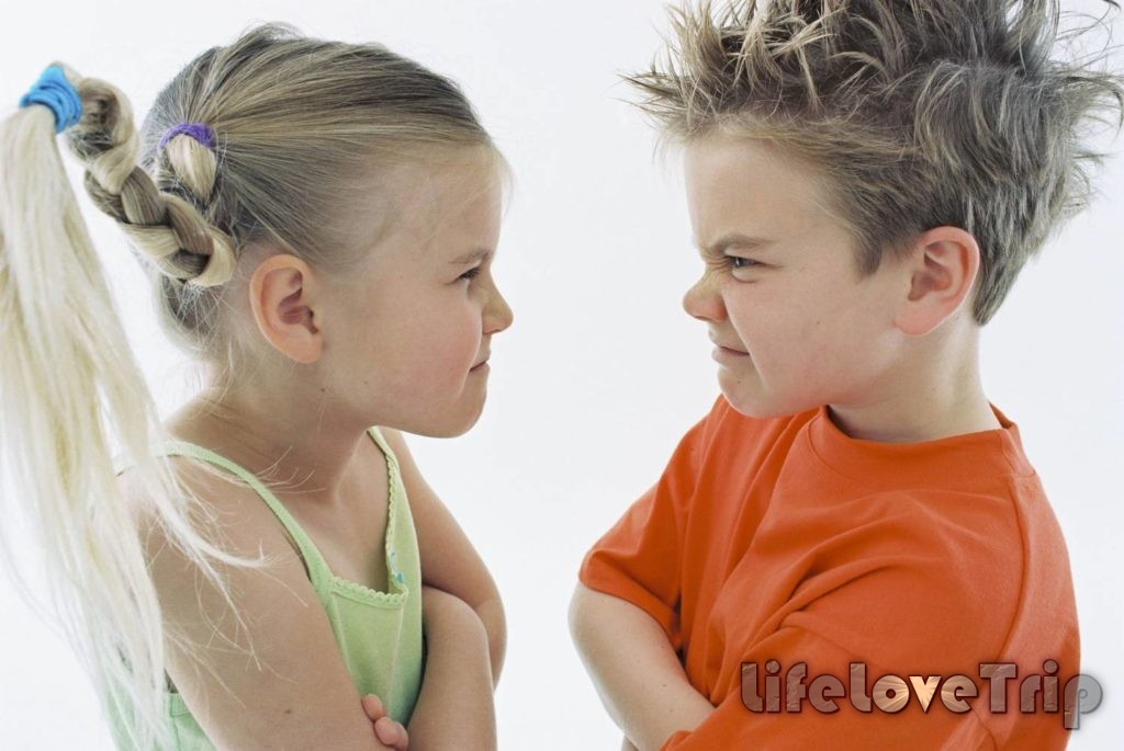 Не кричите на ссорящихся детей.