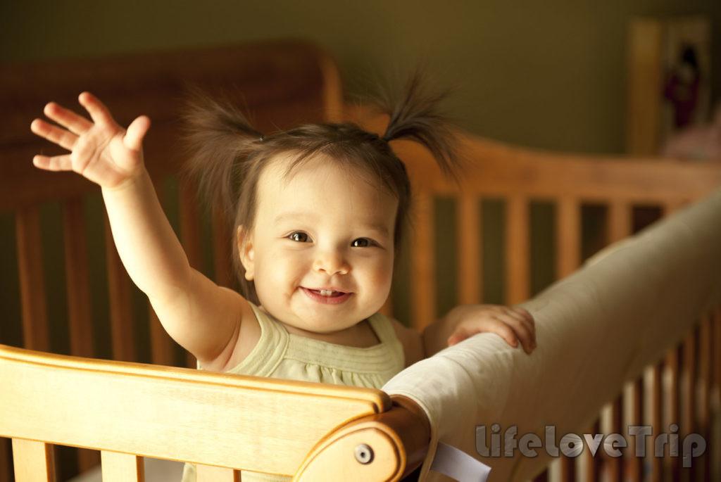 Выбирайте постельное белье вместе с ребенком.