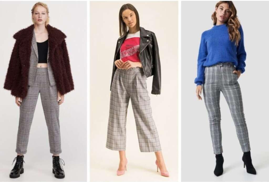 Женские брюки в клетку в городских повседневных стилях