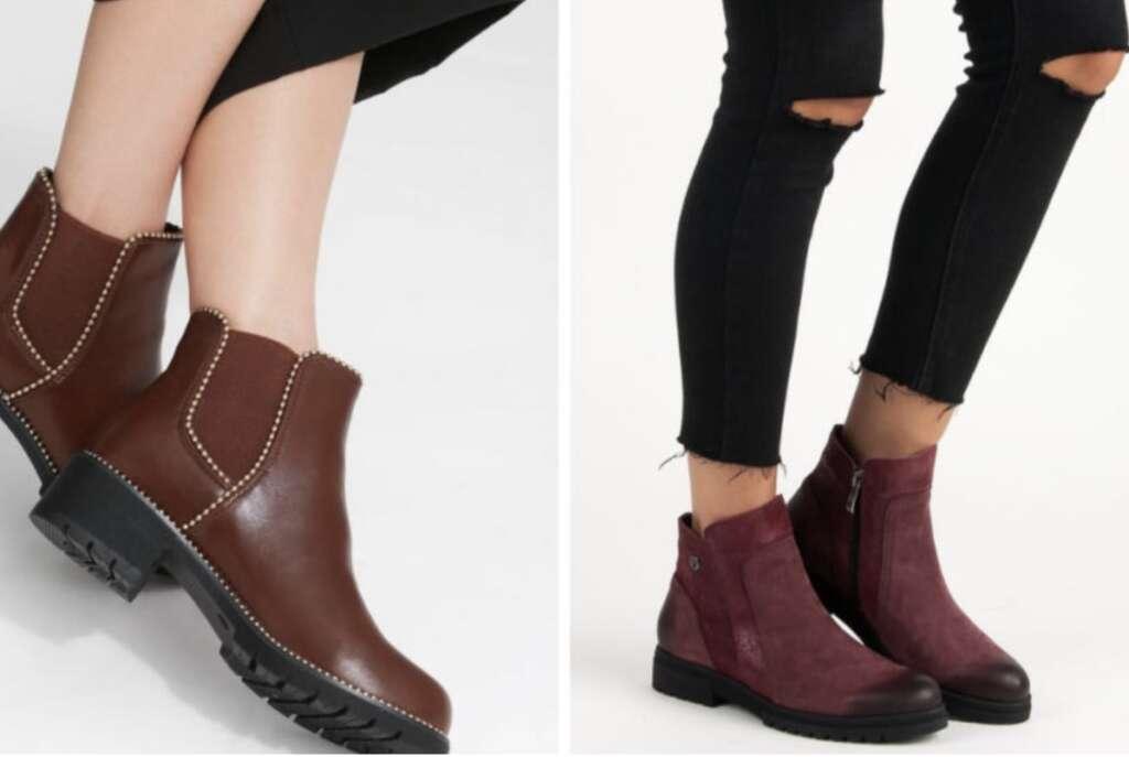 Кожаные или экологические кожаные ботинки
