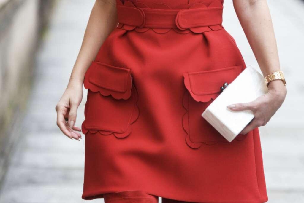 Красные платья осень-зима 2020/2021