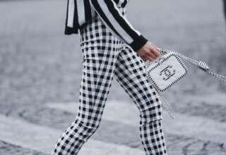 Стильные женские клетчатые брюки